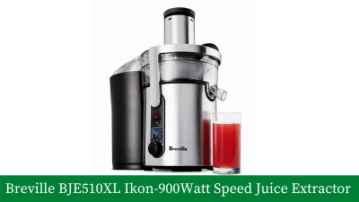 Breville BJE510XL Ikon – 900-Watt Variable-Speed Juice Extractor