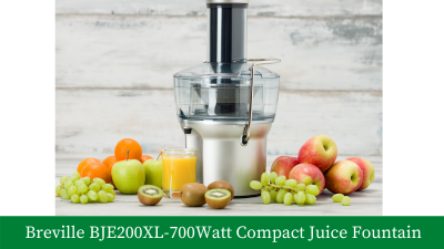 Breville BJE200XL – 700-Watt Compact Juice Fountain