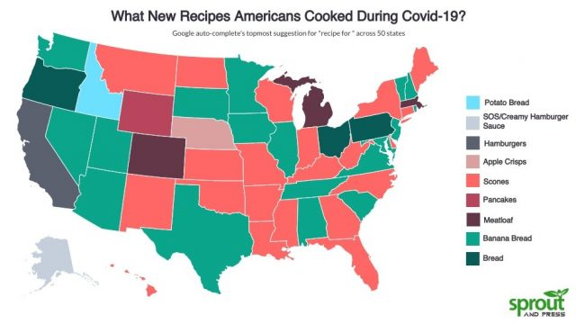 What New Recipes Americans Cooked During Covid-19? [Map]